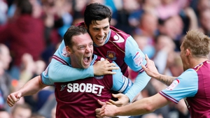 Kevin Nolan settled Hammers nerves with the opener after 15 minutes