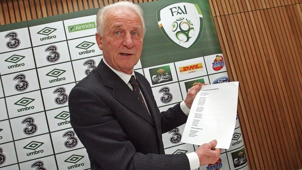 Trapattoni's squad was along expected lines