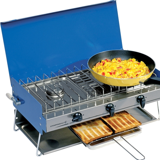 Campingaz Camping Chef 2 Burners with Grill Camping Stove. €84.49, Argos