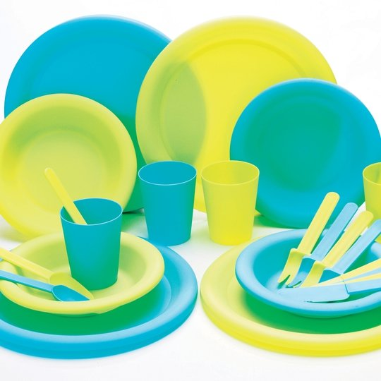 Camping 25 piece dinner set €13.99, Argos