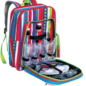 Cool Bag Backpack and 4 Person Place Setting.  €36.49, Argos