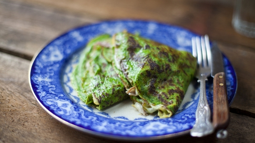 Ham Hock, Spinach and Cheese Crêpes