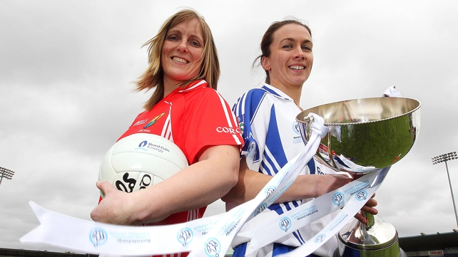 Cork's Elaine Harte and Sharon Courtney of Monaghan