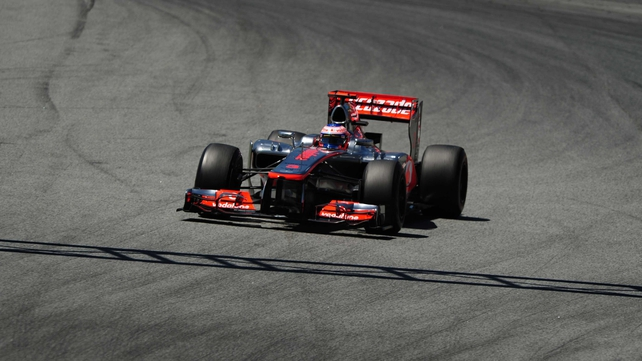Jenson Button in action at the Spanish Grand Prix