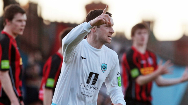 Captain Alan McNally was on target for Drogheda at Dalymount Park