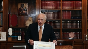 Greek President Karolos Papoulias called the meeting to try to find agreement on a coalition government