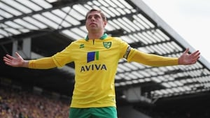 Grant Holt helped Norwich to a 2-0 win over Aston Villa as his side ended a fine season