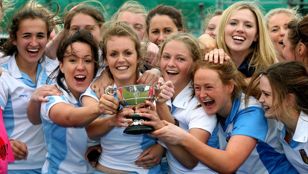 UCD women's team celebrate victory in the Electric Ireland Irish Senior Cup