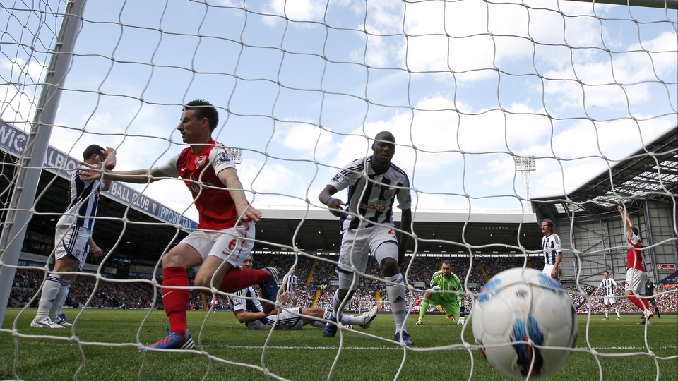 Laurent Koscielny scored the winner for Arsenal in a game that secured third place for them