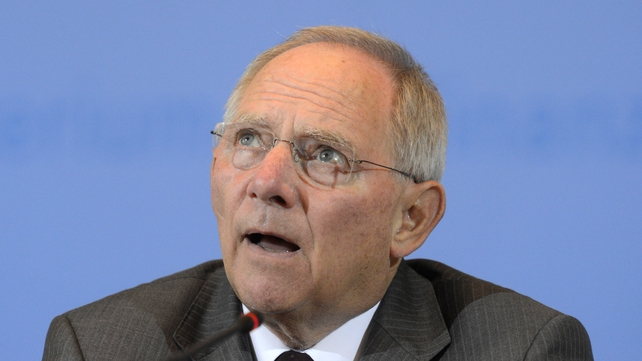 Wolfgang Schaeuble said a Greek bankruptcy could break up the eurozone