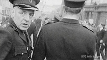 RUC Officer at a Civil Rights march in Derry on 5th October 1968  (C) RTÉ Stills 3038/035