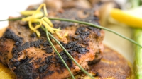 Blackened Salmon with Homemade Wedges & a Spinach & Rocket Salad - This is my favourite way to have salmon and is packed with flavour. Make sure to give this one a go!!