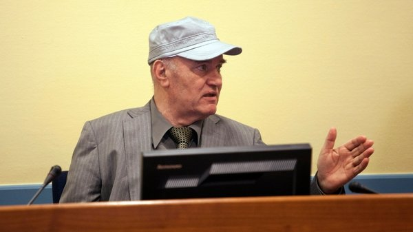 Ratko Mladic is accused of genocide