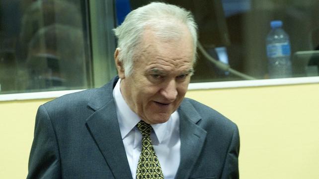 Ratko Mladic denies the 11 war crimes charges