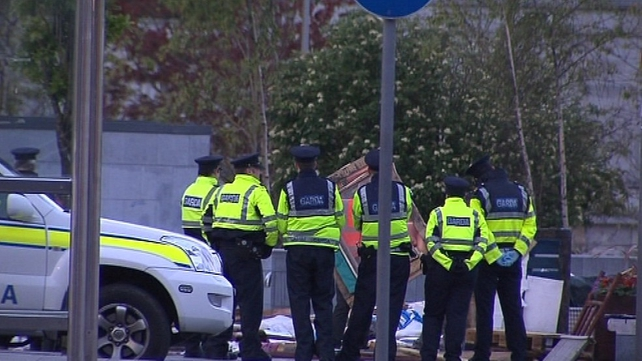 Gardaí moved in to clear the camp early this morning