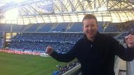 Ed Leahy at the City Stadium