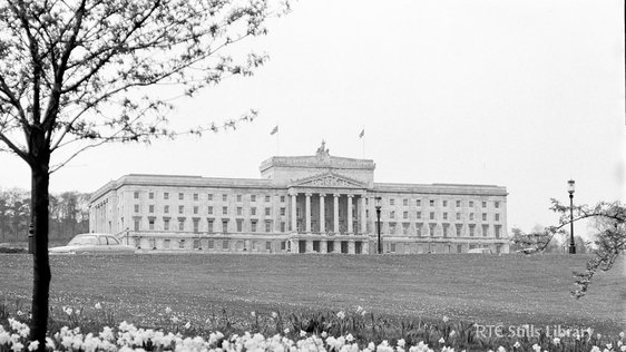 A view of Stormont, the Parliament Building for Northern Ireland, in May 1969. © RTÉ Stills Library 2142/060