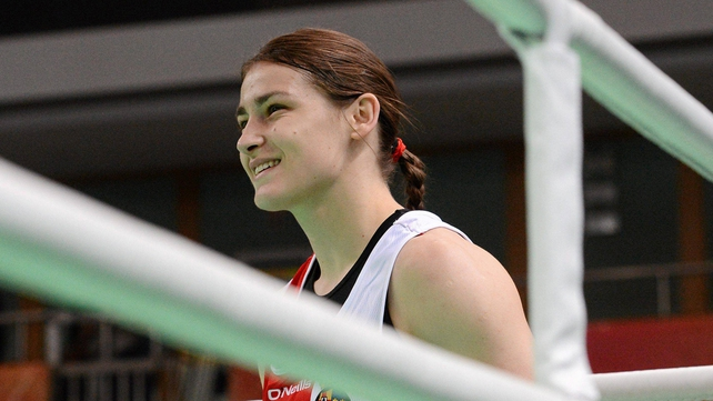 Katie Taylor was one of the Olympic boxers training in Assisi