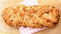 Sundried tomato and parmesan plait - This is a very flavoursome bread and looks extremely impressive for a dinner party. It can also be baked as little muffins or bread rolls.