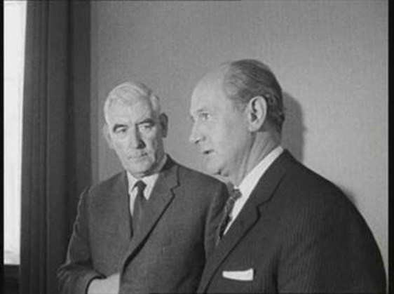Nationalist Party leader, Eddie McAteer, meets the Taoiseach, Jack Lynch, to discuss the situation in Northern Ireland.