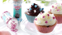 Easy Swirl Cupcakes  - Easy to make but with lots of impact. A great little recipe from Dr Oetker.