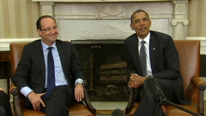 French President Francois Hollande meets US President Barack Obama