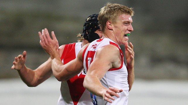 Tommy Walsh kicked two goals on his Swans debut at the SCG