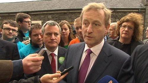 Enda Kenny met and talked with people during a visit to the city's Milk Market