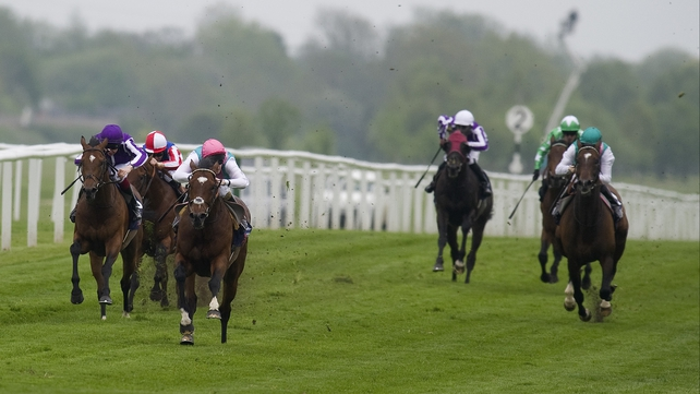 Frankel brought his unbeaten record to ten races with a brilliant performance in the Lockinge