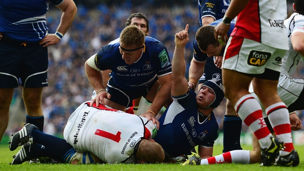 Sean O'Brien scored Leinster's first try