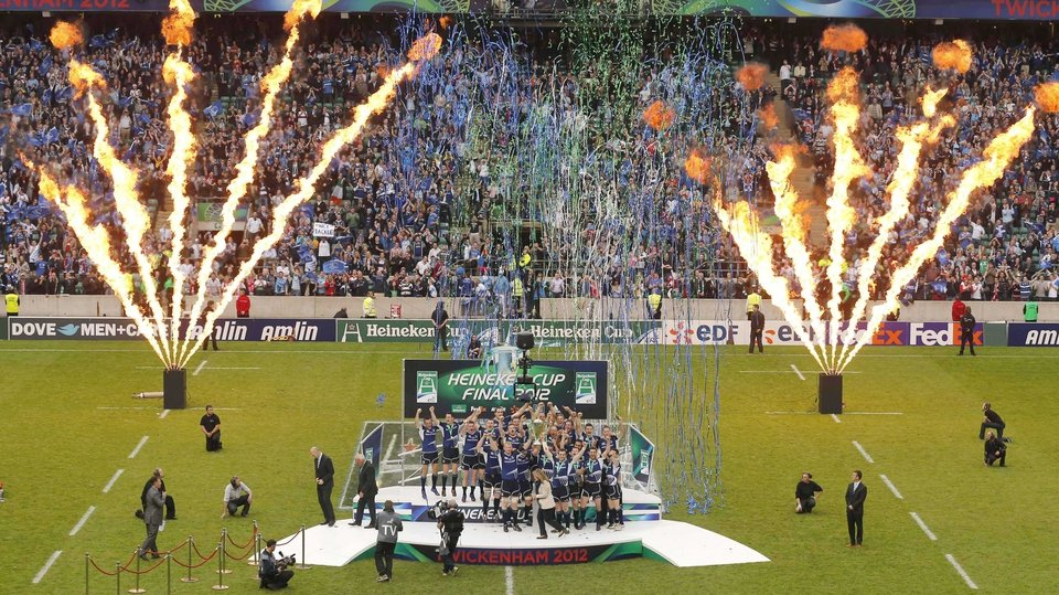 Leinster lift the Heineken Cup