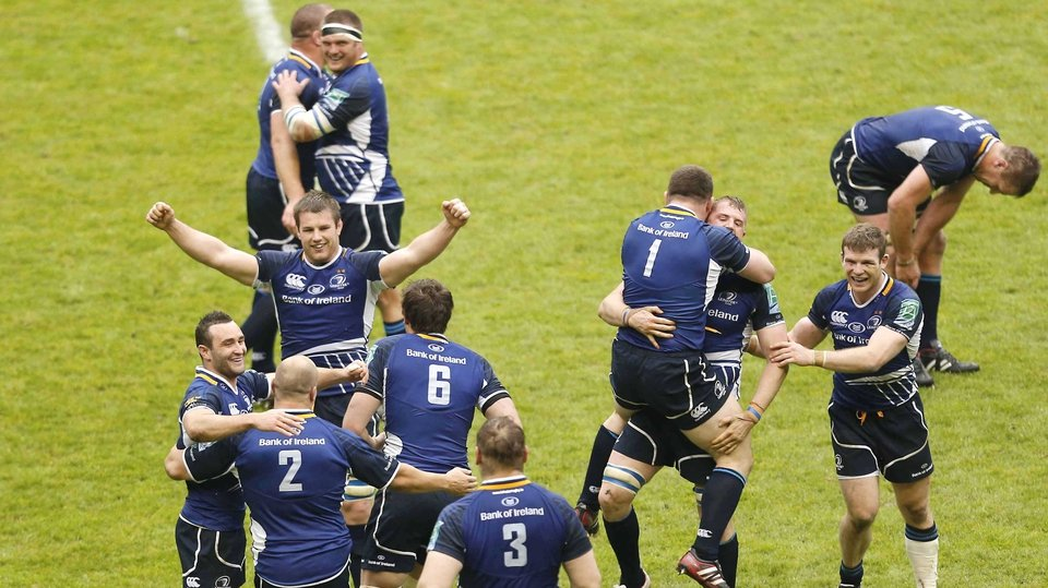 Leinster celebrate at the final whistle