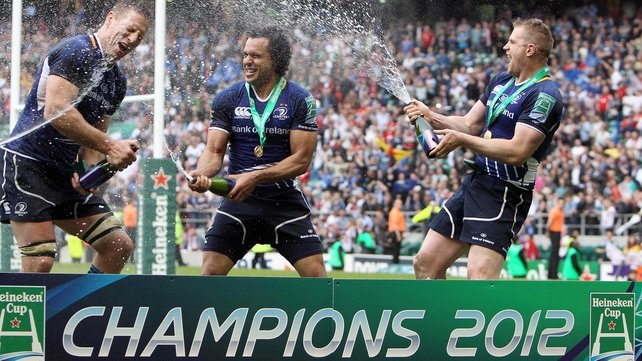 Nacewa celebrates last year's Heineken Cup success