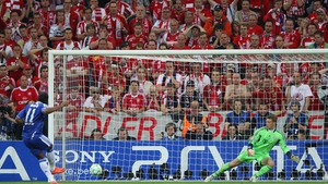 Drogba converts the penalty that gave Chelsea Champions League glory