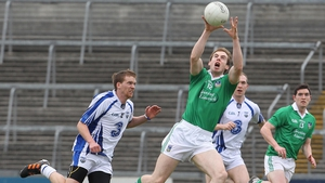 Limerick's Seanie Buckley fields a high ball against Waterford at the Gaelic Grounds