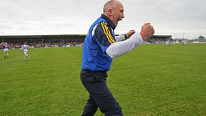 Glenn Ryan show his delight at the final whistle in Longford
