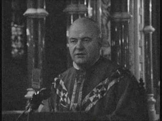 Cardinal Conway addressing the congregation of St Patrick's Cathedral, Armagh