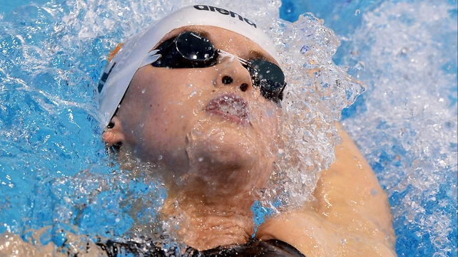 Melanie Nocher advanced to the 200m Backstroke finals at the ERC courtesy of a new Irish record