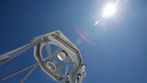 The solar telescope is the third largest in the world