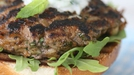 Lamb Burgers with Yoghurt and Mint Dip - Fire up the BBQ for these zingy burgers!