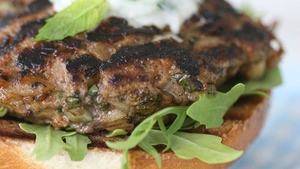 Neven Maguire's Lamb Burgers with Yoghurt and Mint Dip