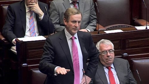 Enda Kenny is appealing to eurozone leaders for a political solution to the banking crisis