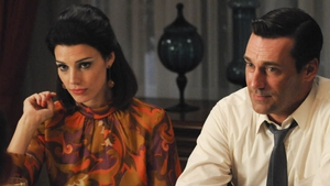 Jessica Paré and Jon Hamm look forward to an extended seventh season of  Mad Men