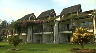 The court was shown CCTV footage from the Legends Hotel in Mauritius
