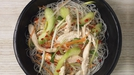 "Vietnamese Style Leftover Chicken Salad  - Gok says: ""Whether it's catering for a dinner party, birthday party, wedding or the biggest celebration in Asia, Chinese New Year, the look and aesthetic of the food we serve is hugely important. The Chinese have a brilliant knack of paring down even the most complicated of dishes, simply serving them on a three-way palette of black, gold and red. When dressing your delicious food to serve to friends and family, adopt as your mantra Coco Chanel's formidable quote: 'When accessorizing always take off the last thing you put on.' If you employ this simple technique to your food, I guarantee it will look as gorgeous as it tastes fabulous. This dish is so versatile, it works both hot and cold."
