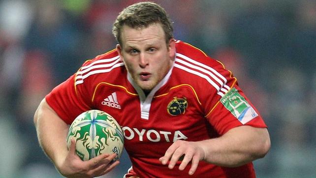 Darragh Hurley - 36 caps for Munster