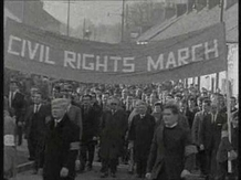 Civil Rights marchers in Armagh on 30 November 1968.