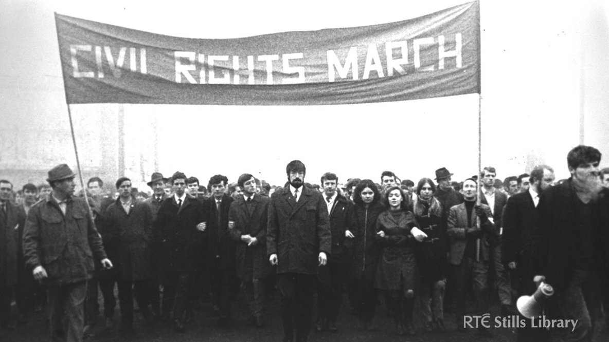 Civil Rights March Newry, November 1969 © RTÉ Stills Library 0122/073