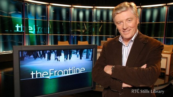 Pat Kenny on the set of 'The Frontline'