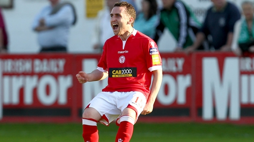 Barry Clancy gave Shels the lead against Bray at the Carlisle Grounds